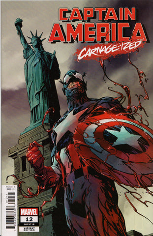 CAPTAIN AMERICA #12 (CARNAGE-IZED VARIANT) COMIC BOOK ~ Marvel Comics