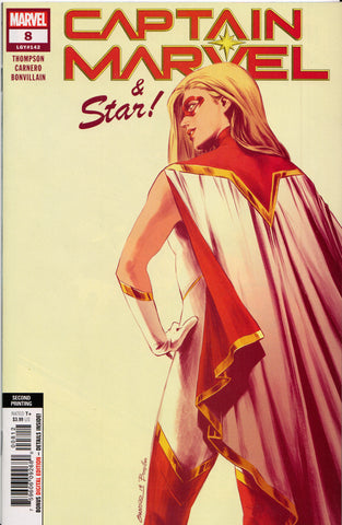 CAPTAIN MARVEL #8 (2ND PRINT)(1ST APPEARANCE STAR) COMIC BOOK ~ Marvel Comics