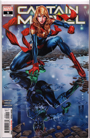 CAPTAIN MARVEL #9 COMIC BOOK (MARK BROOKS VARIANT) ~ Marvel Comics