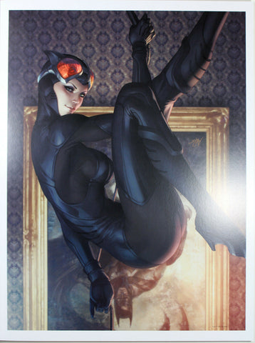 "CATWOMAN #9 ART PRINT by Stanley ""Artgerm"" Lau ~ 12"" x 16"" ~ Great Condition"