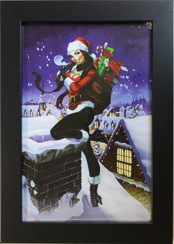 2013 HOLIDAY CHRISTMAS PRINT by J. Scott Campbell - FRAMED ART - 8 X 12