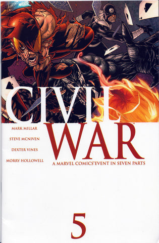 CIVIL WAR #5 (1st Print)(Iron Spider-Man/Bullseye Cover) ~ Marvel Comics