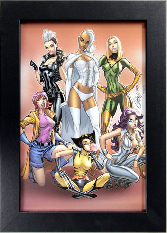 "UNCANNY X-MEN ""COSPLAY"" by J. Scott Campbell ~ FRAMED ART ~ (Print/Poster)"