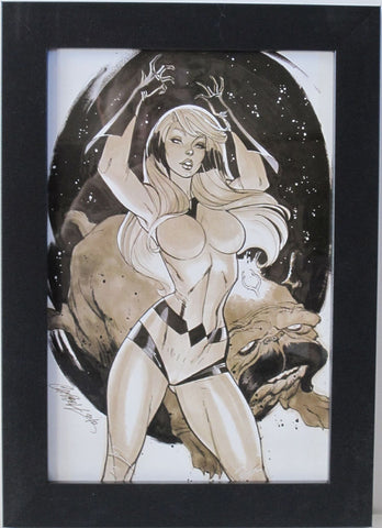 CRYSTAL (INHUMANS) by J. Scott Campbell - FRAMED ART - 8 X 12 - (Print / Poster)