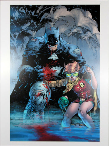 "DARK KNIGHT III: MASTER RACE ART PRINT by Jim Lee ~ 12"" x 16"" ~ Great Condition"