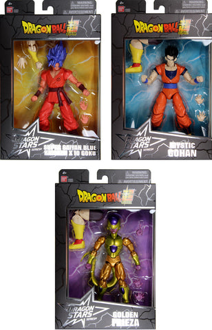Dragon Stars Series 6 Set ~ SSGSS Kaioken X 10 Goku, Gohan, Golden (Gold) Frieza