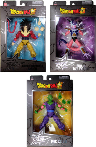 Dragon Ball Stars Series 9 Action Figure Set ~ Frieza First Form, Piccolo, SS4 Goku
