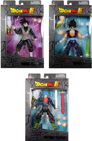 Dragon Stars Series 8 Action Figure Set ~ Goku Black, Vegito, Future Trunks