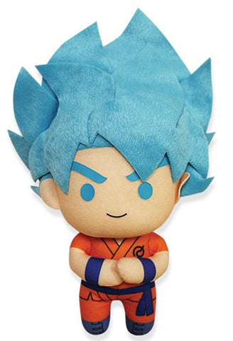 "Dragonball Z ~ 6.5"" SSGSS GOKU PLUSH FIGURE ~ Official Great Eastern Plushie"