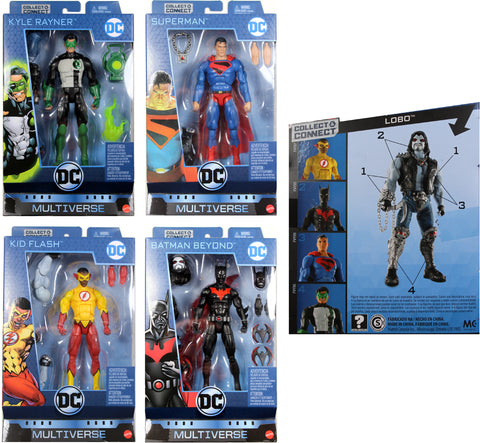 "DC Multiverse 6"" WAVE 10 FIGURE SET ~ Kid Flash, Batman Beyond, Lobo BAF++"
