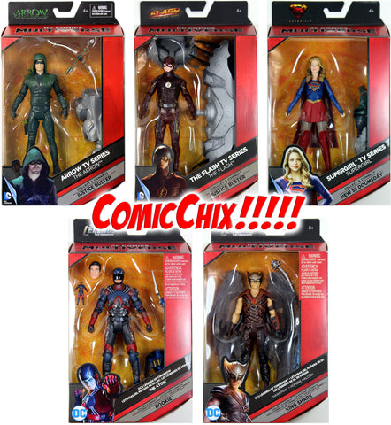 "DC Multiverse ~ ""ARROWVERSE"" HEROES ACTION FIGURE SET ~ Flash, Supergirl, Atom+"