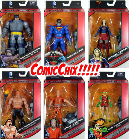 "DC Multiverse 6"" WAVE 3 & 4 COMPLETE ACTION FIGURE SET w/BAF NEW 52 DOOMSDAY"