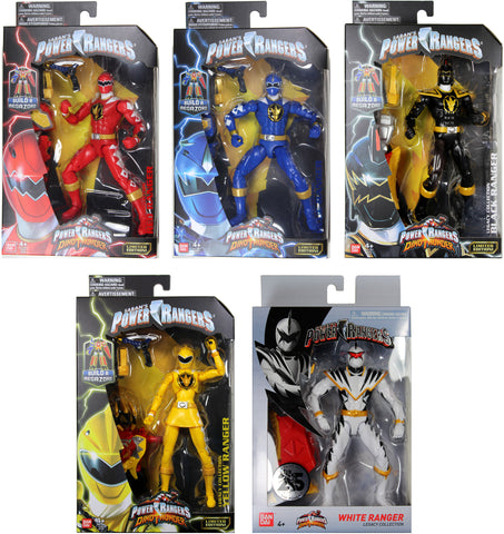 Power Rangers Dino Thunder ~ 5-FIGURE RANGER SET w/ALL BAF MEGAZORD PIECES