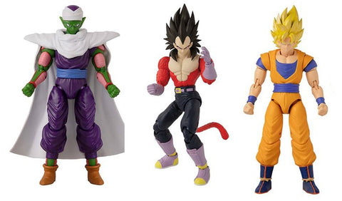 Dragon Stars Series 13 Action Figure Set ~ SS Goku (Version 2), SS4 Vegeta, Piccolo (Version 2) ~ Bandai