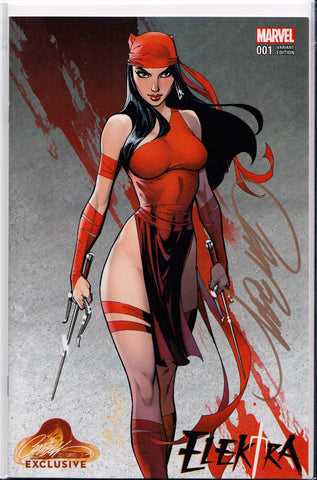 ELEKTRA #1B SIGNED BY J. SCOTT CAMPBELL ~ Marvel Comics