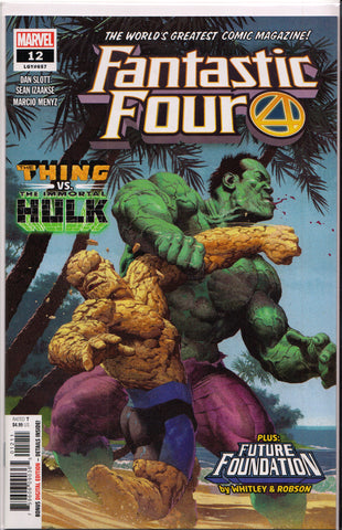 FANTASTIC FOUR #12 (vs. HULK VARIANT)(2019) ~ Marvel Comics