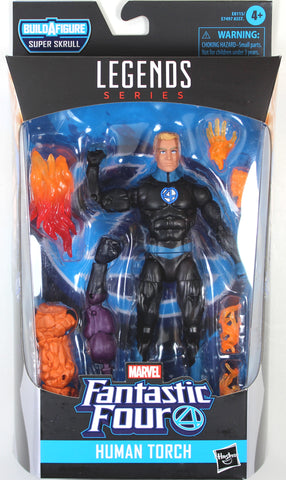 Marvel Legends ~ THE HUMAN TORCH ACTION FIGURE ~ Fantastic Four Super Skrull BAF Series