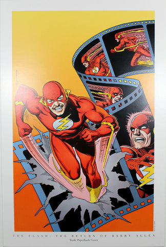 "THE FLASH ""RETURN OF BARRY ALLEN"" PRINT by Brian Bolland ~ 9"" x 14"""