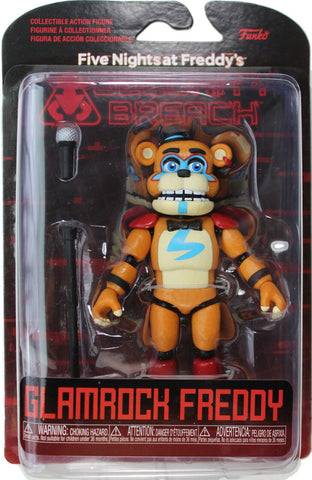 "Five Nights at Freddy's ~ 5"" GLAMROCK FREDDY ACTION FIGURE ~ Security Breach"