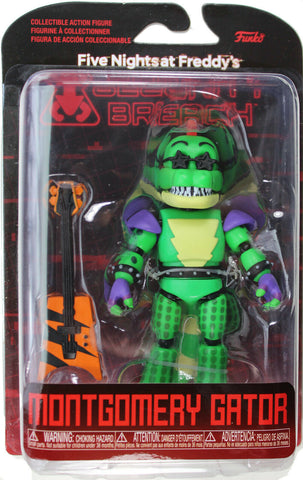 "Five Nights at Freddy's ~ 5"" MONTGOMERY GATOR ACTION FIGURE ~ Security Breach"