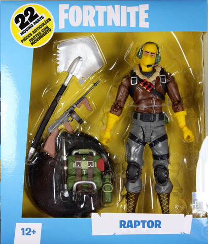 Fortnite ~ RAPTOR DELUXE 7-INCH ACTION FIGURE ~ McFarlane Toys