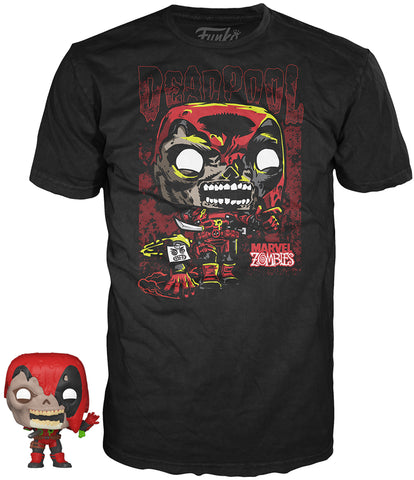 Funko POP! Tees ~ DEADPOOL T-SHIRT w/MINI-POP! VINYL FIGURE