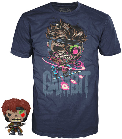 Funko POP! Tees ~ GAMBIT T-SHIRT w/MINI-POP! VINYL FIGURE