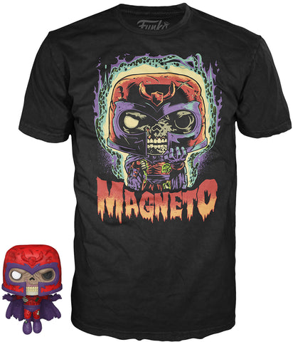 Funko POP! Tees ~ MAGNETO T-SHIRT w/MINI-POP! VINYL FIGURE