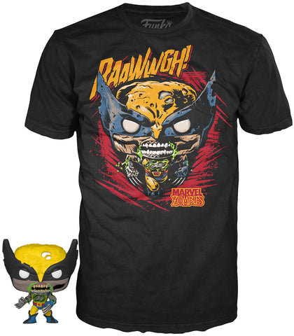 Funko POP! Tees ~ WOLVERINE T-SHIRT w/MINI-POP! VINYL FIGURE