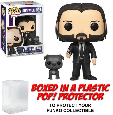 Funko POP! Movies ~ JOHN WICK w/DOG (#580) w/Protector Case
