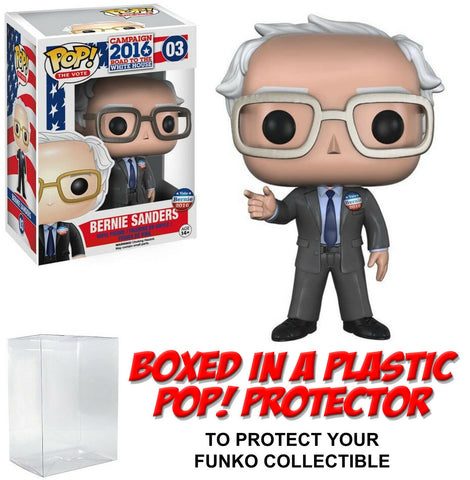 Funko POP! The Vote ~ BERNIE SANDERS (#03) w/Protector Case ~ 100% Authentic