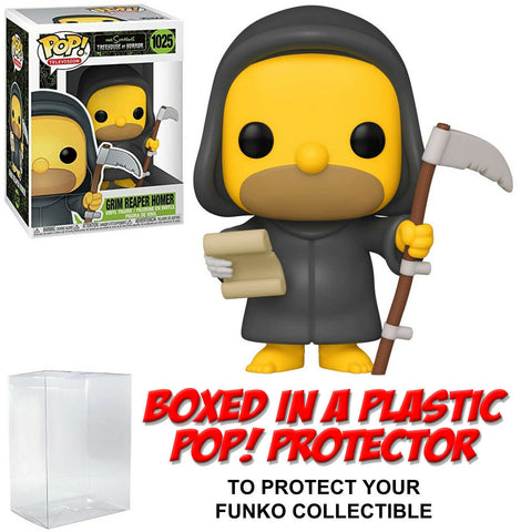 Funko POP! Television ~ GRIM REAPER HOMER (#1025) with Protector Case ~ Simpsons