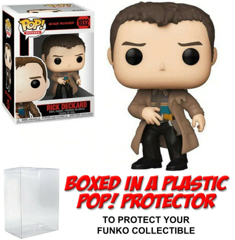 Funko POP! Movies ~ RICK DECKARD (#1032) with Protector Case ~ Blade Runner