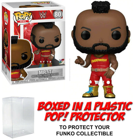 Funko POP! WWE ~ MR. T w/HULKAMANIA OUTFIT (#80) w/Protector Case ~ Wrestling