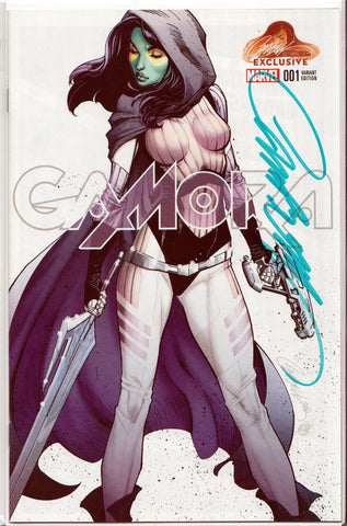 GAMORA #1A SIGNED BY J. SCOTT CAMPBELL ~ Marvel Comics Guardians of the Galaxy