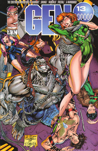 GEN 13 #3 (VOLUME 1) COMIC BOOK ~ Image Comics ~ J. Scott Cambpell Art