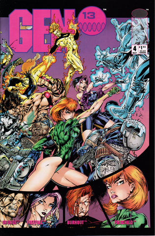 GEN 13 #4 (VOLUME 1) COMIC BOOK ~ Image Comics ~ J. Scott Cambpell Art