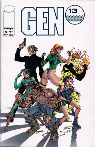 GEN 13 #5 (VOLUME 1) COMIC BOOK ~ Image Comics ~ J. Scott Cambpell Art