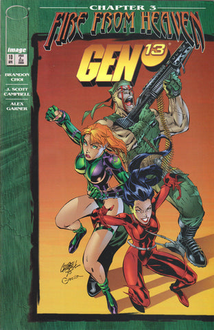 GEN 13 #10 (VOLUME 2) COMIC BOOK ~ Image Comics ~ J. Scott Campbell Art