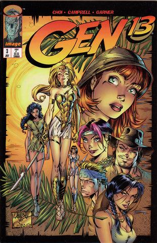 GEN 13 #3 (VOLUME 2) COMIC BOOK ~ Image Comics ~ J. Scott Cambpell Art