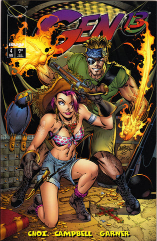 GEN 13 #4 (VOLUME 2) COMIC BOOK ~ Image Comics ~ J. Scott Cambpell Art