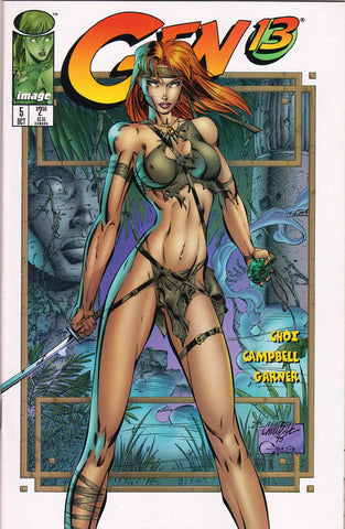 GEN 13 #5 (VOLUME 2) COMIC BOOK ~ Image Comics ~ J. Scott Cambpell Art