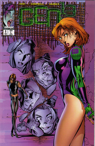 GEN 13 #8 (VOLUME 2) COMIC BOOK ~ Image Comics ~ J. Scott Campbell Art