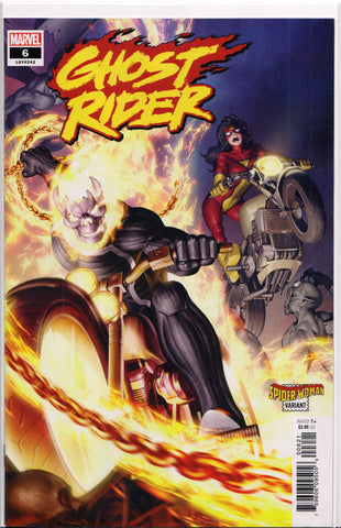 GHOST RIDER #6 (SPIDER-WOMAN VARIANT)(2020) COMIC BOOK ~ Marvel Comics