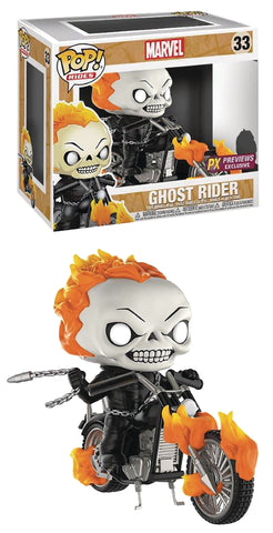 Funko POP! Marvel ~ GHOST RIDER w/MOTORCYCLE VINYL FIGURE SET ~ Diamond PX