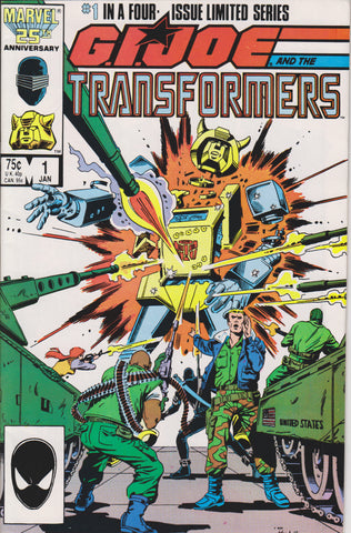GI JOE/TRANSFORMERS #1 COMIC BOOK ~ Marvel Comics
