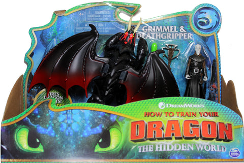 How to Train Your Dragon 3 ~ GRIMMEL & DEATHGRIPPER ACTION FIGURE SET ~ Spin Master