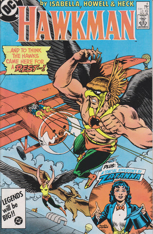 HAWKMAN #4 (1986) COMIC BOOK ~ DC COMICS