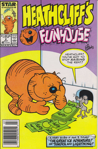 HEATHCLIFF'S FUNHOUSE #2 COMIC BOOK ~ Marvel / Star Comics