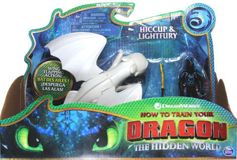 How to Train Your Dragon 3 ~ HICCUP & LIGHT FURY ACTION FIGURE SET ~ Spin Master